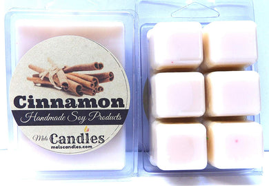 Cinnamon 3.2 Ounce Pack of Soy Wax Tarts - HANDMADE Scent Brick, Wickless Candle - mels-candles-more