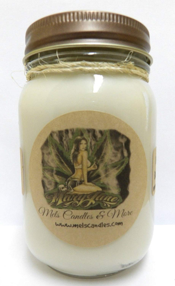 Mary Jane - 16oz Glass Country Jar Soy Candle All Natural Hand Poured Soy Candle - mels-candles-more
