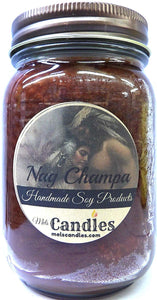 Nag Champa 16 Ounce Country Jar 100% Soy Candle - Handmade in USAs - mels-candles-more