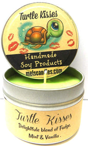 Turtle Kisses 4oz All Natural Soy Candle Tin (Take It Any Where) - mels-candles-more