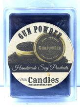 Load image into Gallery viewer, Gun Powder 3.2 Ounce Wax Tarts - Scent Brick Wax Melts - mels-candles-more