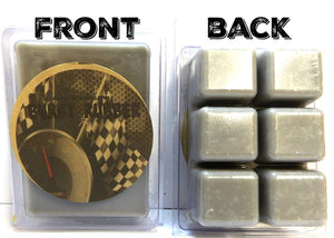 Burnt Rubber 3.2 Ounce Pack of Soy Wax Tarts -(6 Cubes Per Pack) Scent Brick, Wickless Candle - mels-candles-more