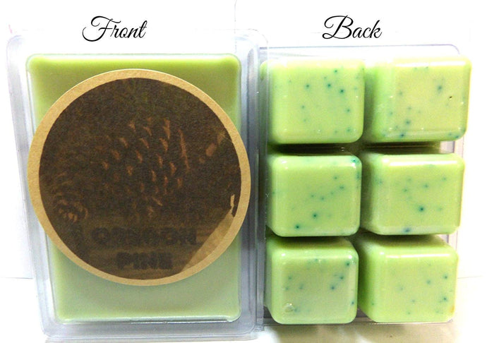 Oregon Pine - 3.2 Ounce Pack of Soy Wax Tarts (6 Cubes Per Pack) - Scent Brick, Wickless Candle - mels-candles-more