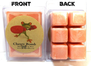 Cherry Bomb -3.2 Ounce Pack of Soy Wax Tarts - Scent Brick, Wickless Candle - mels-candles-more