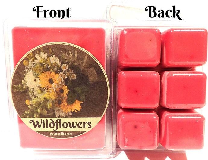 Wildflowers 3.2 Ounce Pack of Soy Wax Tarts - Scent Brick, Wickless Candle - mels-candles-more