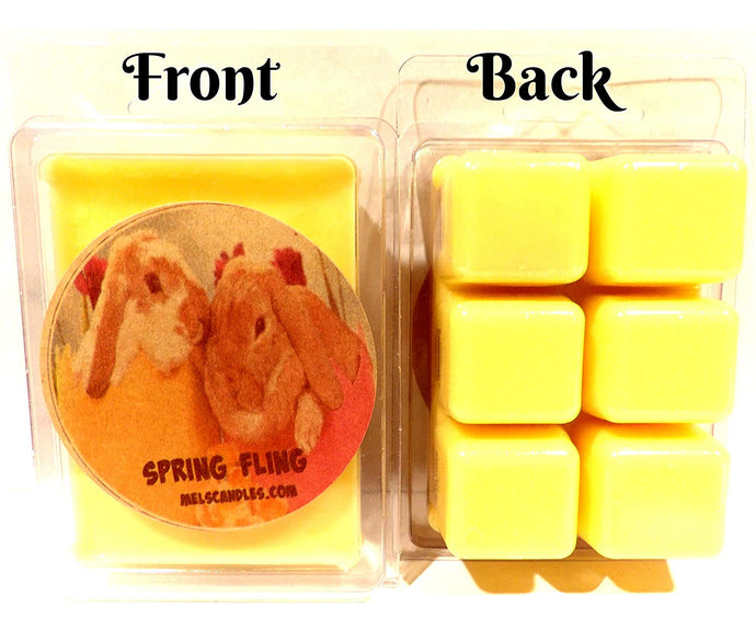 Spring Fling (Daffodil Aroma) -3.2 Ounce Wax Tarts - Scent Brick, Wickless Candle - mels-candles-more