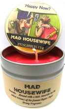 Load image into Gallery viewer, Mad Housewife 4oz All Natural Soy Candle Tin (Take It Any Where) Novelty Candle Amaretto Aroma - mels-candles-more