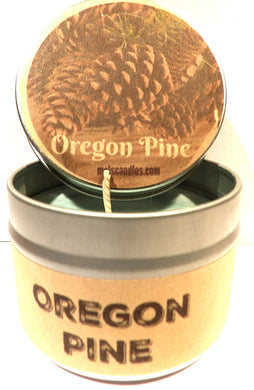 Oregon Pine 4oz All Natural Novelty Tin Soy Candle, Take It Any Where Approximate Burn Time 30 Hours - mels-candles-more