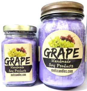 COMBO SET Grape - 16oz Country Jar Soy Candle and 6oz Soy Candle - mels-candles-more