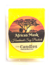 Load image into Gallery viewer, African Musk  3.4 Ounce Pack of Soy Wax Tarts / Melts
