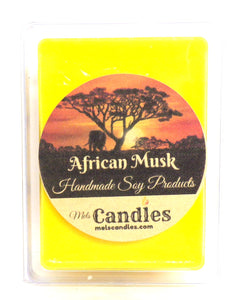 African Musk  3.4 Ounce Pack of Soy Wax Tarts / Melts