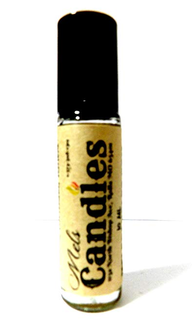 Mary Jane 10 ml Glass Roll on Bottle with a Stainless Steel Ball, and black cap Pure undiluted and Alcohol Free Perfume Oil Fragrance oil, Vegan product - Novelty item - mels-candles-more