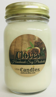 Cloves 16 ounce Soy Candle - Handmade in USA