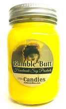 Load image into Gallery viewer, Bumble Butt 16 Ounce Country Jar Handmade Soy Candle