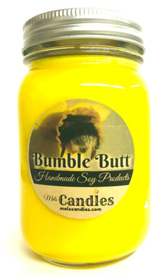 Bumble Butt 16 Ounce Country Jar Handmade Soy Candle