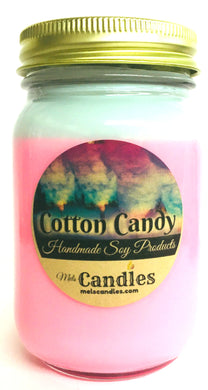 Cotton Candy 16 Ounce Country Jar Handmade Soy Candle