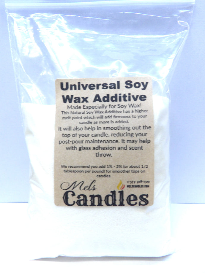 Universal Soy Wax Additive - 5 ounces - comes in a clear Bag - Candle Making Additives - mels-candles-more