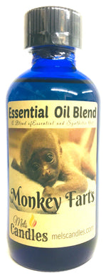 Monkey Farts 4 Ounce  / 118.29 ml Glass Bottle of Essential Oil Blend, Fragrance Oil