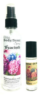 COMBO Set of 2 - Hyacinth 4 ounce Bottle of Body Spray and  Roll-on Bottle
