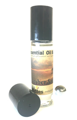 Amber Sands 10 ml Glass Roll on Bottle of Perfume Oil with a Stainless Steel Ball