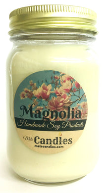 Magnolia 16 Ounce Country Jar 100% Soy Candle - Handmade in USA