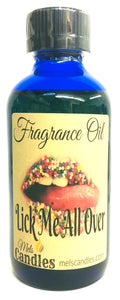 Lick Me All Over 4 Ounce  / 118.29 ml Glass Bottle of Fragrance / Essential Oil Blend