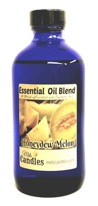 Honeydew Melon Aroma 8 Ounce Blue GLASS Bottle of  Essential Oil Blend Fragrance Oil