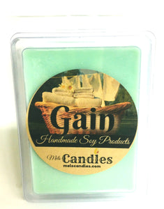 Gain TYPE (Version of Original Gain) 3.4 Ounce Pack of Soy Wax Tarts (6 Cubes Per Pack) - Scent Brick