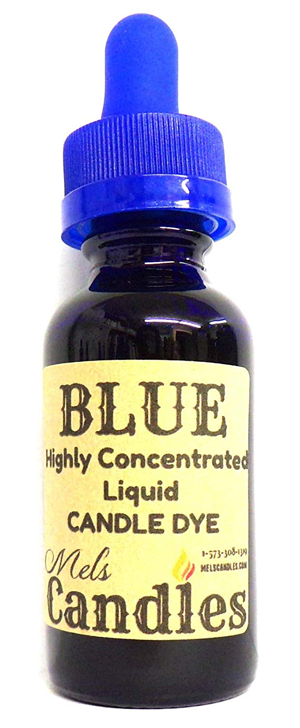 Blue Liquid Candle Dye  - 1 Ounce Glass Dropper Bottle