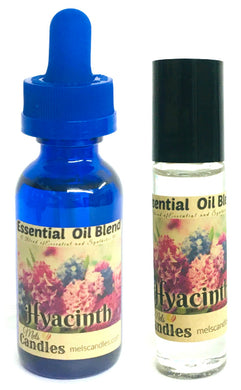 COMBO Set of TWO Items - Hyacinth 1 Ounce Bottle of Scented oil and Roll On Bottle