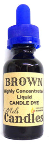 Brown Liquid Candle Dye  - 1 Ounce Glass Dropper Bottle