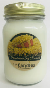 Hot Buttered Popcorn 16oz Country Jar Soy Candle - Handmade in Rolla Missouri