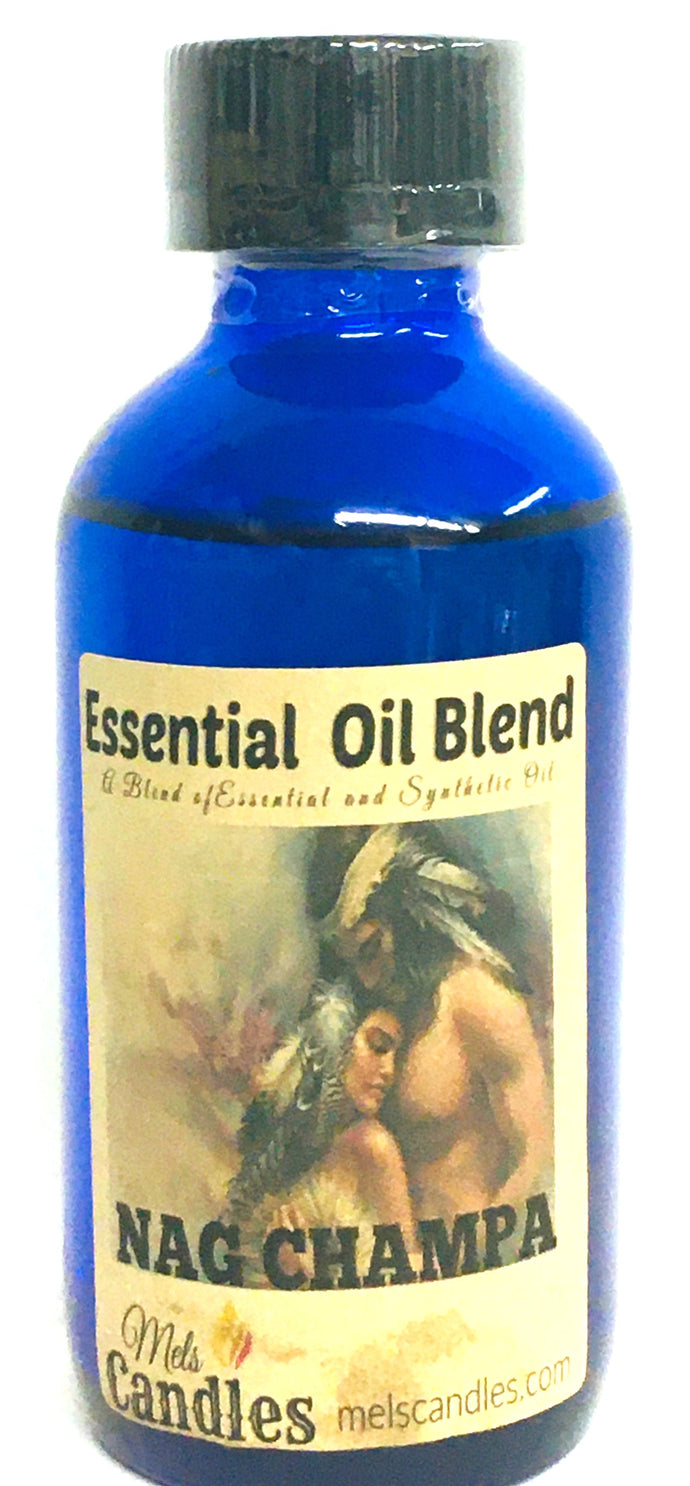 Nag Champa 4 ounce Glass Bottle of Essential Oil Blend Fragrance Perfume Oil