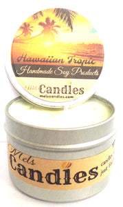 Hawaiian Tropic 100% Soy Candle Tin - 100% Handmade in USA