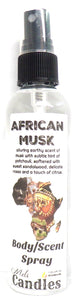 African Musk 4 Ounce Bottle of Body / Scent Spray / Room Spray