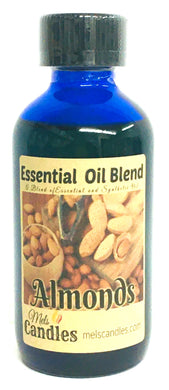 Almond  4 Ounce Blue Glass Bottle of Premium Grade A Quality Fragrance Oil