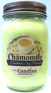 Chamomile 16 ounce Country Jar Handmade Soy Candle - mels-candles-more
