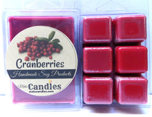 Load image into Gallery viewer, Cranberries  3.2 Ounce Pack of Soy Wax Tarts - Scent Brick, Wickless Candle - mels-candles-more