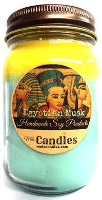 Egyptian Musk 16 Ounce Country Jar Handmade  Soy Candle