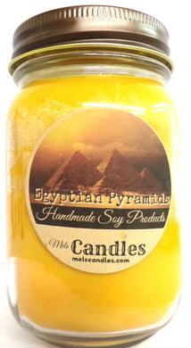 Egyptian Pyramids 16 Ounce Country Jar Handmade  Soy Candle