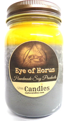 Eye of Horus - 16 Ounce Country Jar Handmade  Soy Candle