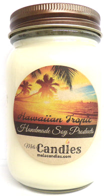 Hawaiian Tropic 16 Ounce Country Jar Handmade Soy Candle