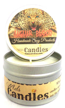 Load image into Gallery viewer, Jaguar Blood 4 Ounce 100% Soy Candle Tin 100% Handmade