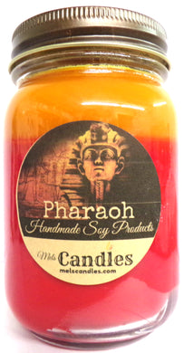 Pharaoh - 16 Ounce Country Jar Handmade  Soy Candle