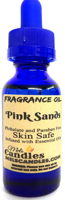 Pink Sands 1 Ounce / 29.5ml Blue Glass Bottle of Fragrance Oil - mels-candles-more
