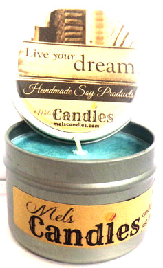Live Your Dream 4 Ounce 100% Soy Candle Tin 100% Handmade