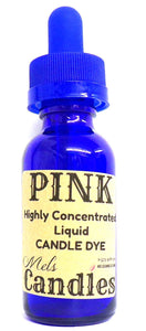 Pink Liquid Candle Dye  - 1 Ounce Glass Dropper Bottle