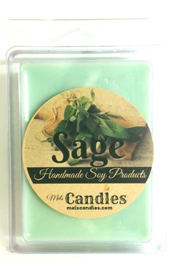 Sage - 3.4 Ounce Pack of Handmade Soy Wax Tarts - Mels Melts