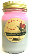 Load image into Gallery viewer, Stupid Cupid 16 Ounce Country Jar Handmade Soy Candle