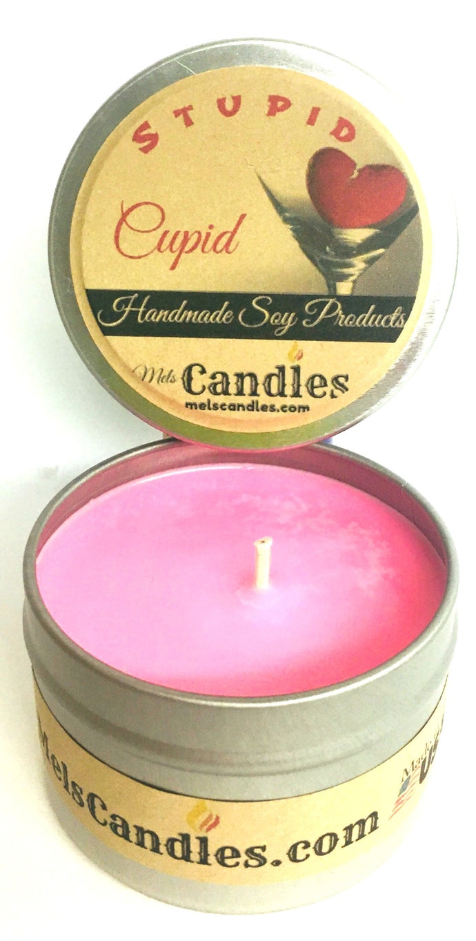 Stupid Cupid 4 ounce All Natural Soy Candle Tin